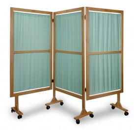 Paraván zdravotnický - zástěna dřevěná III