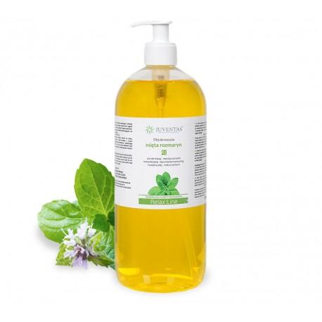 Masážní olej RELAX LINE - máta/rozmarýna - 1000ml