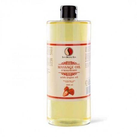 Masážní olej Sara Beauty Spa -  jahoda 1000 ml