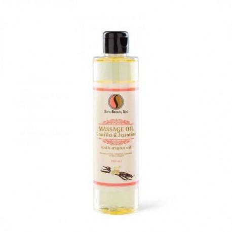 Masážní olej Sara Beauty Spa -  vanilka 250 ml